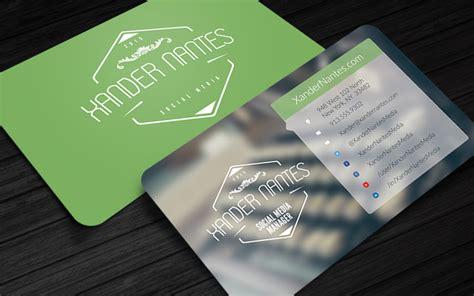 Media Business Card Psd Template by Social Box Social Media Business Card Photoshop Template