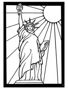 statue of liberty color free liberty coloring pages