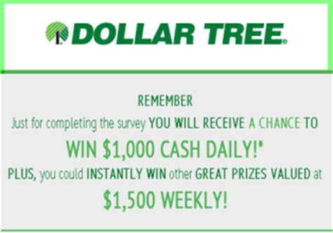 Dollar Tree Sweepstakes - dollar tree win 1 000 cash daily for completing the survey by m giveawayus com