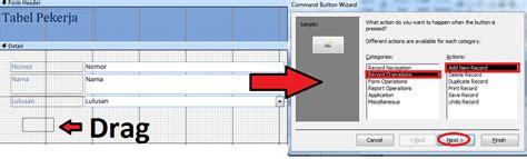 untuk membuat query menggunakan tombol edit form pada access tombol tilan agar terlihat