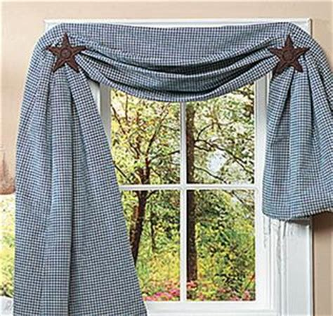 curtain swag holders set of 2 large rustic americana star curtain tiebacks or