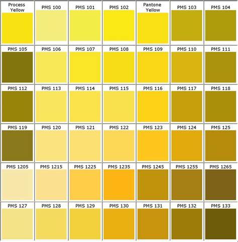 gold color number color chart colours colour chart