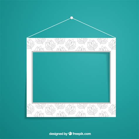 Floral Wall Mural floral wall frame vector free download
