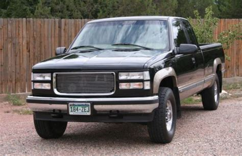 how to sell used cars 1997 gmc 2500 club coupe electronic throttle control purchase used 1997 chevy gmc sierra 2500 pickup 4x4 7 4l v8 extended cab black low miles in