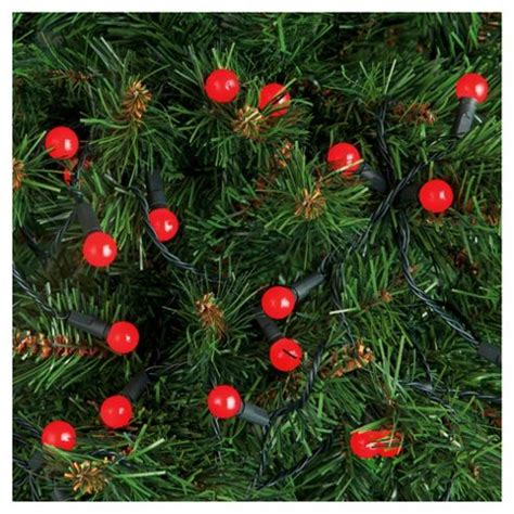 buy tesco 100 led red berry christmas lights from our all