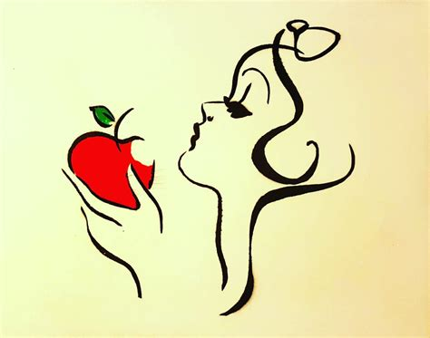Apple Snow White disney snow white apple silhouette www imgkid the image kid has it