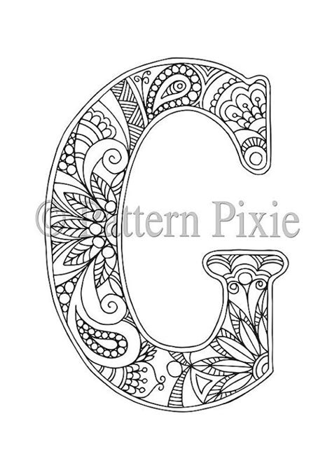 Letter Y Coloring Pages For Adults by Best 25 Letter G Ideas On 7