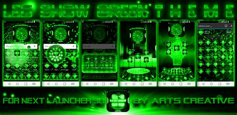 next launcher themes latest next launcher theme led show green by artscreativegroup on