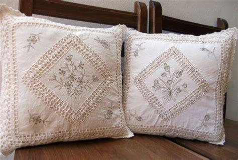 cuscini ad uncinetto coppia cuscini arredo copricuscini uncinetto country