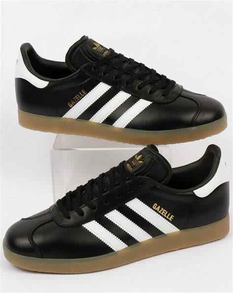 Kickers Gum Sole Black adidas gazelle trainers black white gum leather originals