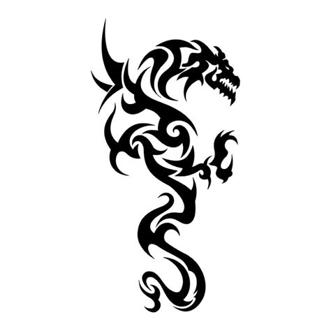 dragons i tatto black n white tribal