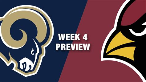 rams v cardinals rams vs cardinals preview week 4 nfl