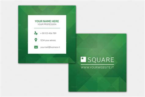 Sqaure Egift Card Template by Square Green Business Card Business Card Templates On