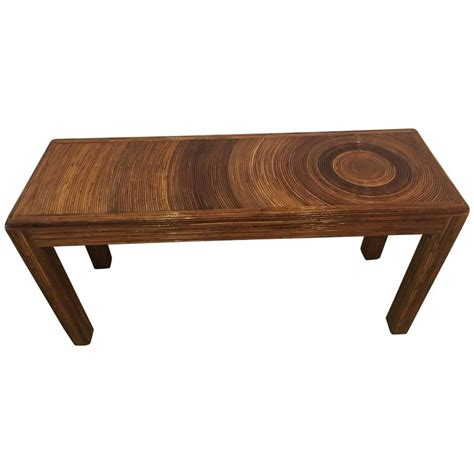 vintage bamboo sofa table pencil reed bamboo rattan console sofa entry table