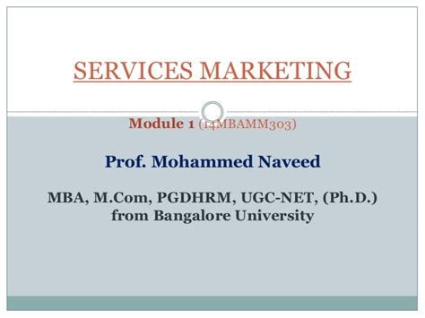 Service Marketing Ppt For Mba by Services Marketing Module 1 As Per New Vtu Syllabus
