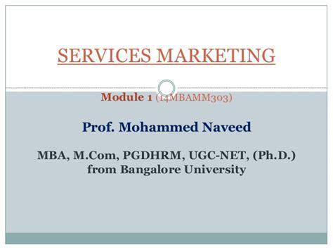Mcom Mba Linkedin by Services Marketing Module 1 As Per New Vtu Syllabus