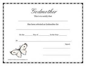 Godparent Certification Letter certificate templates godmothers and free printable on