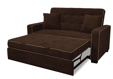 Brown Tufted Sleeper Sofa With Folding Bed And Arm In Folding Sleeper Sofa