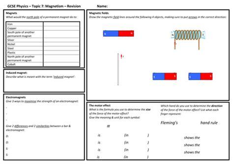 Aqa 9 1 Gcse Science Physics Magnets Electromagnetism