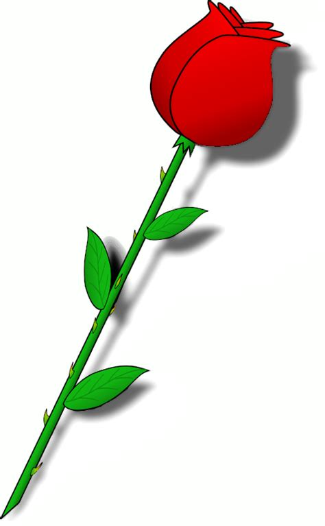 rosa clipart simple outline with stem clipart best