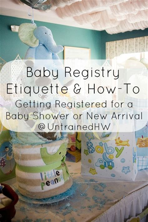 baby shower favor etiquette baby registry etiquette how to getting registered for a