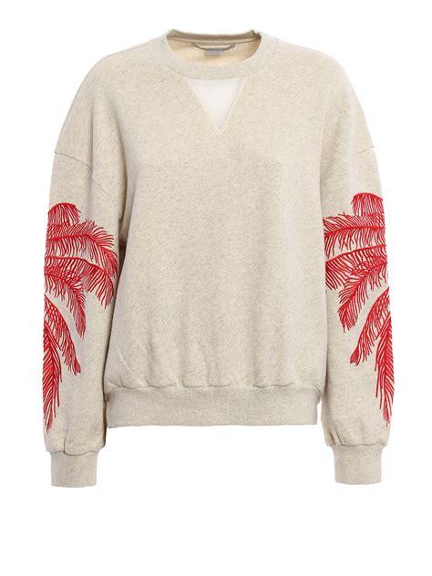 Cotton Embroidered Sweatshirt embroidered cotton sweatshirt by stella mccartney
