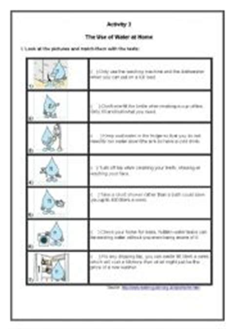 Save Water Worksheets For Kindergarten by Worksheet The Use Of Water At Home