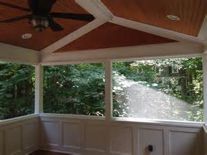 Outdoor Wainscoting Ideas Screen Porch With Wainscoting Knee Walls Custom Tongue