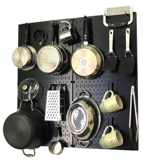 Kitchen Wall Hooks For Pots And Pans Kitchen Pegboard Organizer Kit Pots Pans Rack Black