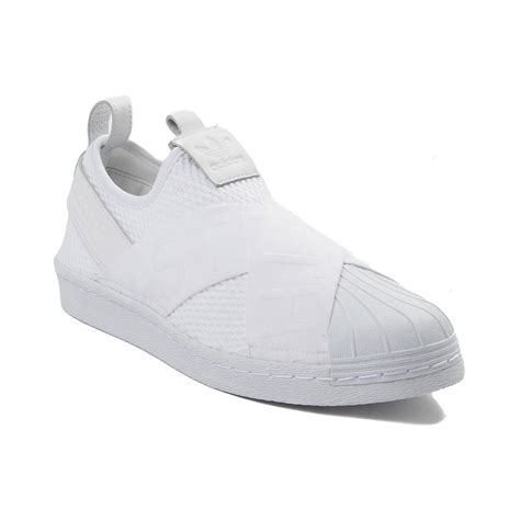 slip on athletic shoe womens adidas superstar slip on athletic shoe white 436511
