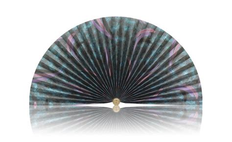 decorative pleated window fans black with dark blue and dark purple splashes pleated fan