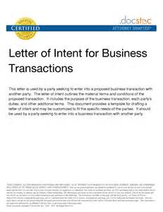 Business Letter Of Intent Sle Template best photos of business letter of intent letter of