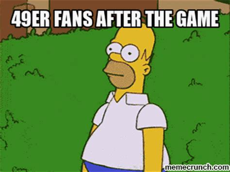 Homer Meme - homer simpson and 49ers meme