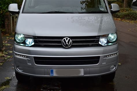 hid lights high and low beam vw t5 2012 xenon upgrades