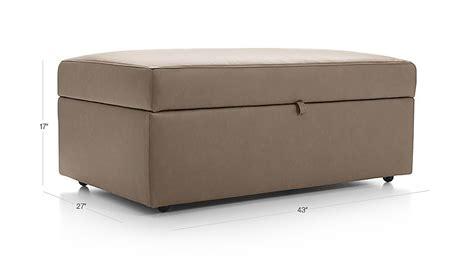 lounge ii storage ottoman with tray lounge ii petite leather storage ottoman with tray lavista
