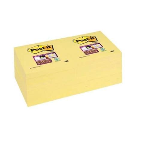 The Sticky Factor 3 by Post It Sticky Canary Yellow Plus Foc Magazine 3m811230