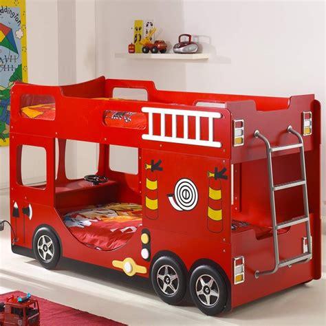 Bien Chambre A Coucher Prix #5: Lit-superpose-enfant-pompier-rouge.jpg