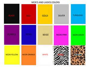 what is in color color chart