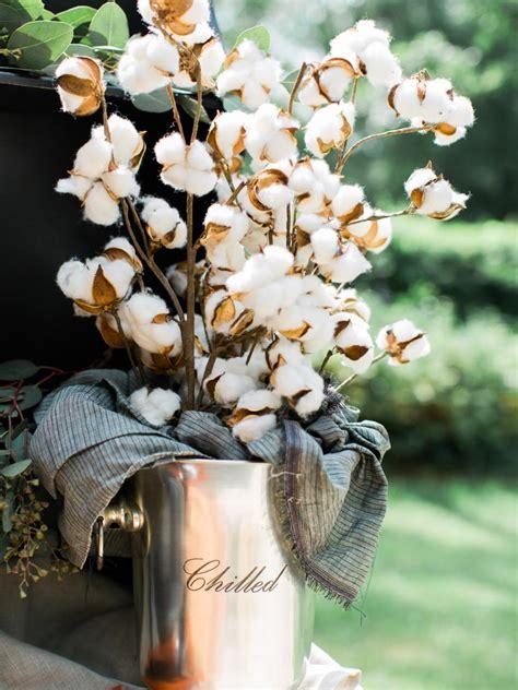 xmas floral decoration using cotton stalks 37 easy fall flower arrangement ideas hgtv