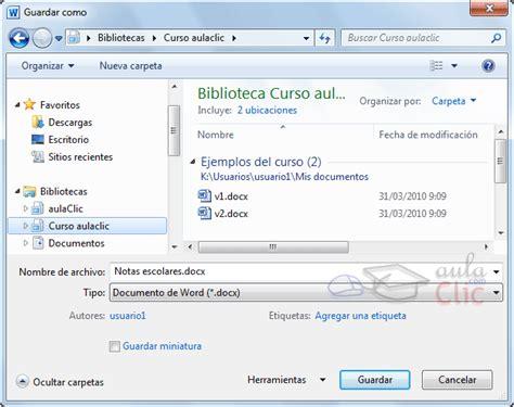 guardar imagenes windows 10 curso gratis de word 2010 aulaclic 1 mi primer documento