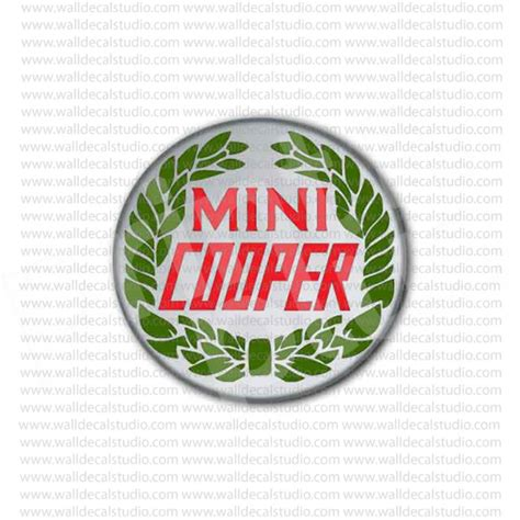 Soho Stiker Emblem Skull Cooper from 4 50 buy mini cooper wreath emblem sticker at print