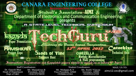 themes for engineering college fests canara engineering college organizes a state level