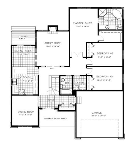 Open Concept Bungalow Floor Plans | open concept kitchen living room bungalow open concept