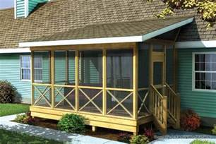 Screened Porch Plans by Screened In Porch Plans To Build Or Modify