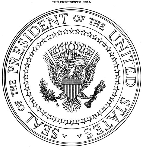 united states seal coloring page presidential seal coloring page az coloring pages