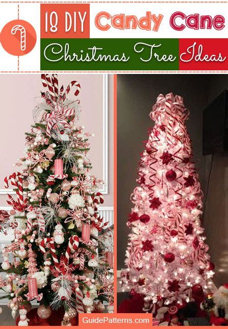 diy candy cane christmas tree ideas guide patterns