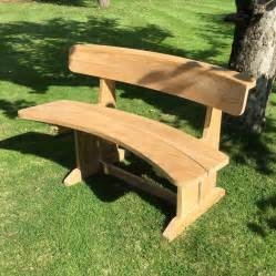curved patio bench teak curved garden bench by blackdown lifestyle