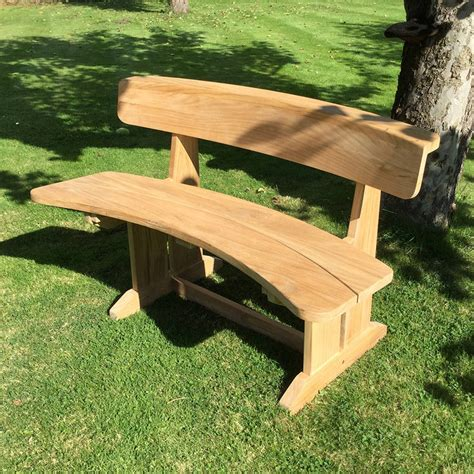 curved bench outdoor teak curved garden bench by blackdown lifestyle