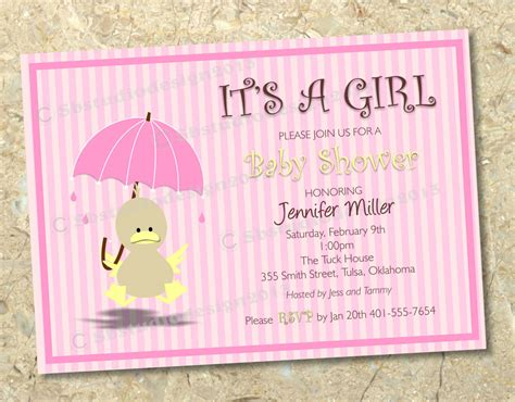design your own printable baby shower invitations