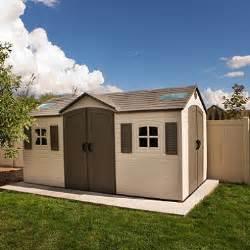 lifetime 15 x 8 dual entry outdoor storage shed sam s club